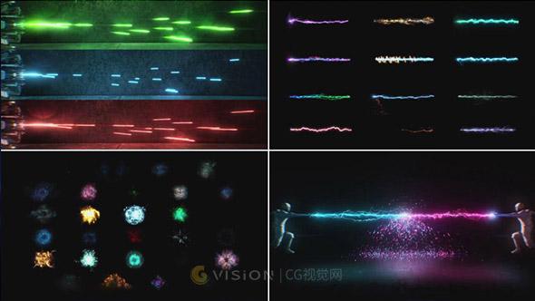115个科幻魔法能量冲击波火焰光线