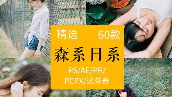 日系小清新+森系 Lut预设调色滤镜PR/达芬奇/AE/FCPX